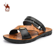CAMEL JINGE 2019 Summer Hot Sale Gladiator Leather Sports Sandals Light Weight Hard-Wearing Slip On Outdoor Beach Sandals Men(China)