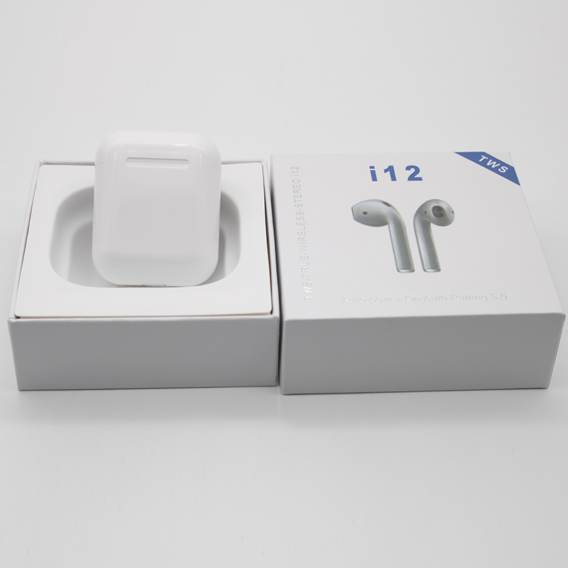 OGV i12 TWS Air Wireless pods Bluetooth 5.0 Touch control 1:1 3D bass earphone for iPhone ear pods xiaomi not  i10 i13 i14