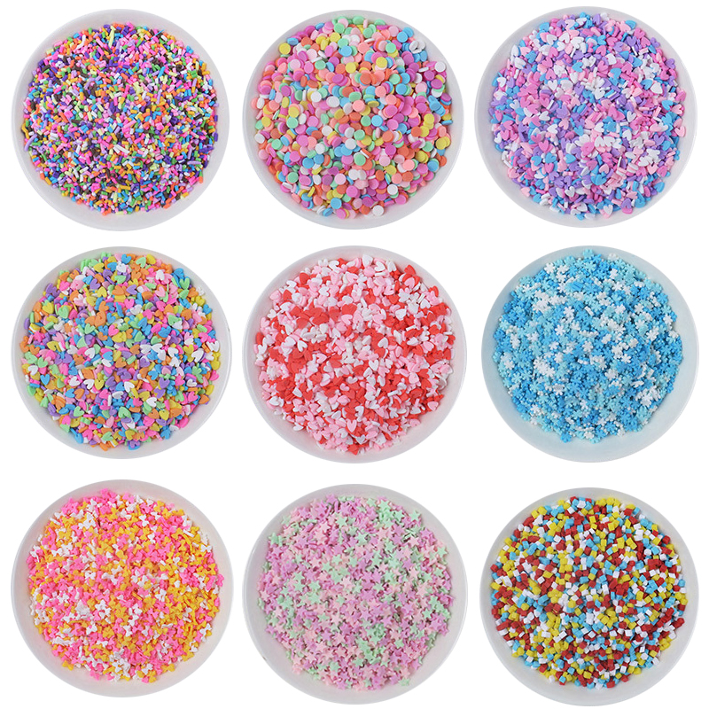 25g Fake Sprinkles For Slime Filler Addition Accessories Clay DIY Fluffy Slime Supplies Beads Cake Dessert Mud Toys For Children