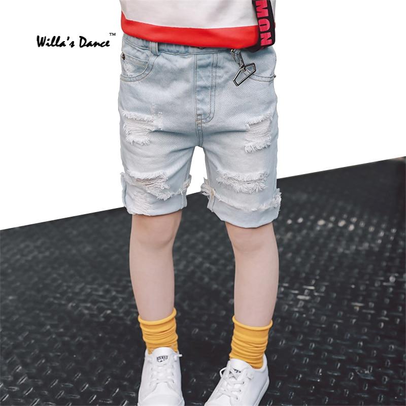 Girls Ripped Jeans for Kids Knee Denim Pants 2017 Summer ...