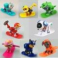8 Pçs/lote juguetes Brinquedos do Filhote de Cachorro Cães de Patrulha de esqui no inverno Crianças Brinquedos Patrulla Canina Com Figuras de Ação presente de Aniversário Articulações Móveis