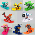 8PCS/lot juguetes winter ski Kids  Toys Patrulla Canina Toys Puppy Patrol Dogs With Action Figures Birthday Movable Joints