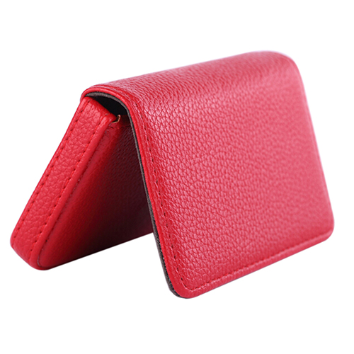 Good Quality Faux Leather Magnetic Closure Business Id Name Pack Credit Card Holder
