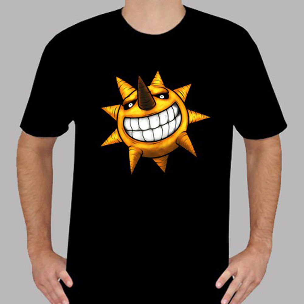 New Soul Eater *Sun Icon Anime Cartoon Men's Black T-Shirt Size S To 3XL Hot New 2018 Summer Fashion T Shirts Basic Models