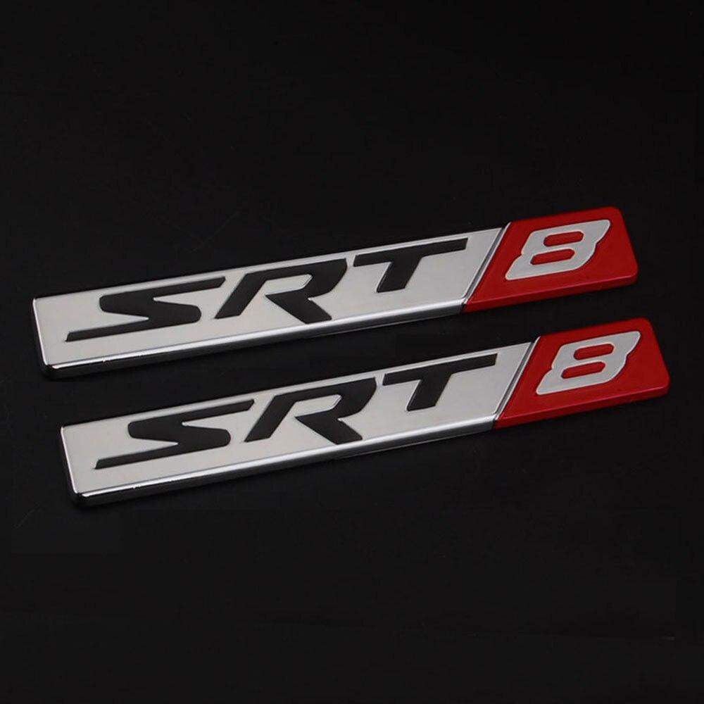 Car sticker maker app - 2pcs Metal Car Sticker Srt Srt 8 Srt 8 Trunk Emblem Fender Badge For Jeep