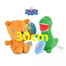 Original Peppa Pig 30cm cute doll soft plush toys Genuine PEPPA George Dinosaur bear lovely toy for kids 1pc Hot