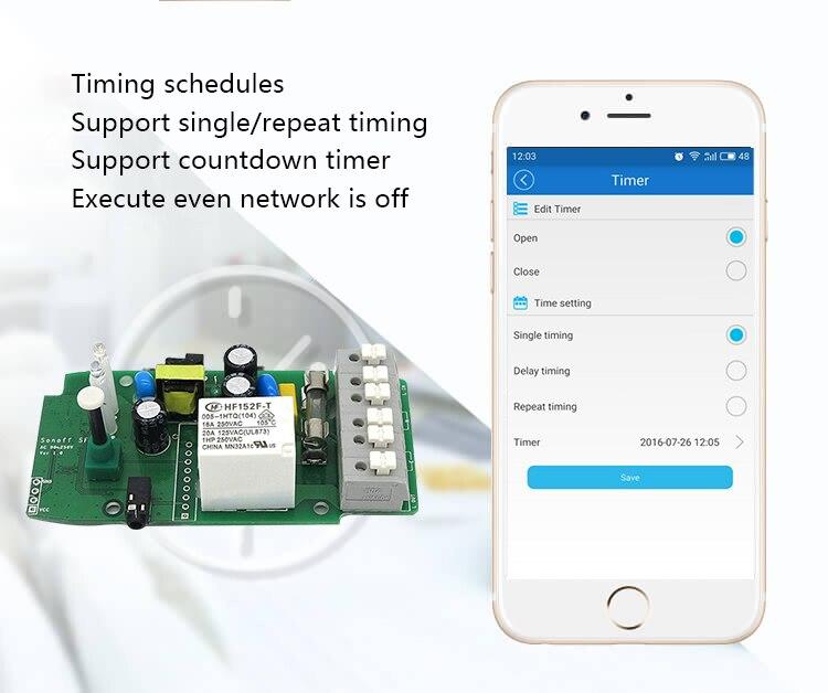 Sonoff TH 16A WiFi surveillance intelligente sans fil de la température et de l'humidité du commutateur pour la maison intelligente - 6