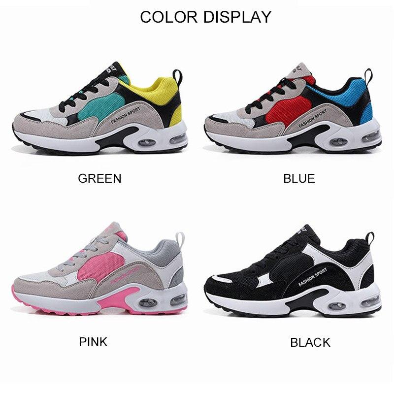 Respirant Formateurs Plat Feminino Décontractées Maille Green Mode Femmes blue Air Dames Tenis black De 2019 Sortie Lacet Printemps Chaussures Up pink Sport T76g6qI