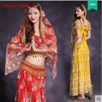 5 Pcs Belly Dance Costume Bellydance Performance Gypsy Indian Dress Dancewear Belly Dance Bollywood Dance Costumes