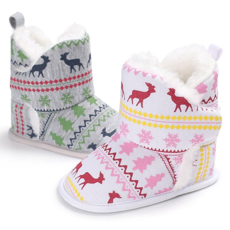 Winter Baby Schnee Stiefel Weihnachten Rentier Schuhe Krippe Bebe Junge Mädchen Super Warm Halten Schuhe Infant Kleinkind Neugeborenen Prewalkers SorgfäLtige FäRbeprozesse Stiefel Babyschuhe