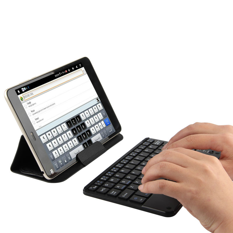 купить Bluetooth Keyboard For Lenovo Tab48plus Tab4 8plus Tab 4 3 8 Plus Tablet Wireless keyboard Android Windows Touch Pad 8 inch Case по цене 1140.32 рублей
