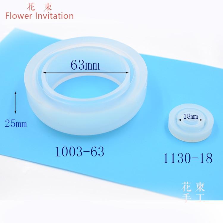 Flower Invitation Mold Bag Handmade Transparent Silicone Manual DIY Mold Resin Mold Jewelry Bracelet Mold
