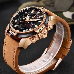 Image 3 - 2019 New LIGE Mens Watches Top Brand Luxury Men Casual Leather Quartz Clock Male Sport Waterproof Watch Relogio Masculino