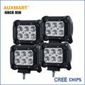 Auxmart 4pcs CREE Chips 4inch 18W LED Work Light Bar Offroad spot Flood Beam truck trailer camper ATV SUV 4X4 motorcycle 24v 12V