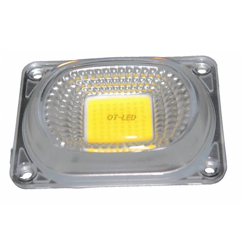 1set LED COB Grow Chip+Lens Reflector 50W 30W 20W 220V 230V Cold Warm White Full Spectrum For LED Flood Light DIY Outdoor light
