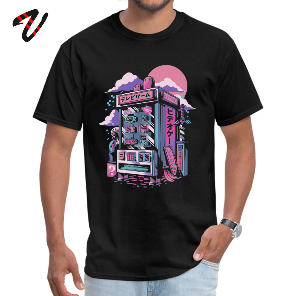 Vaporwave Men T-shirts Retro gaming machine Special Slim Fit T Shirt Short Sleeve Tops T Shirt for Adult Tee Shirts Father Day