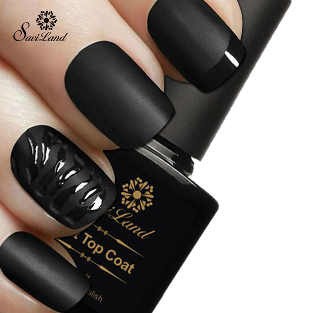 Saviland 1pcs Matt Top Coat Nail Art UV Gel Polish 10ml Matte Top ...