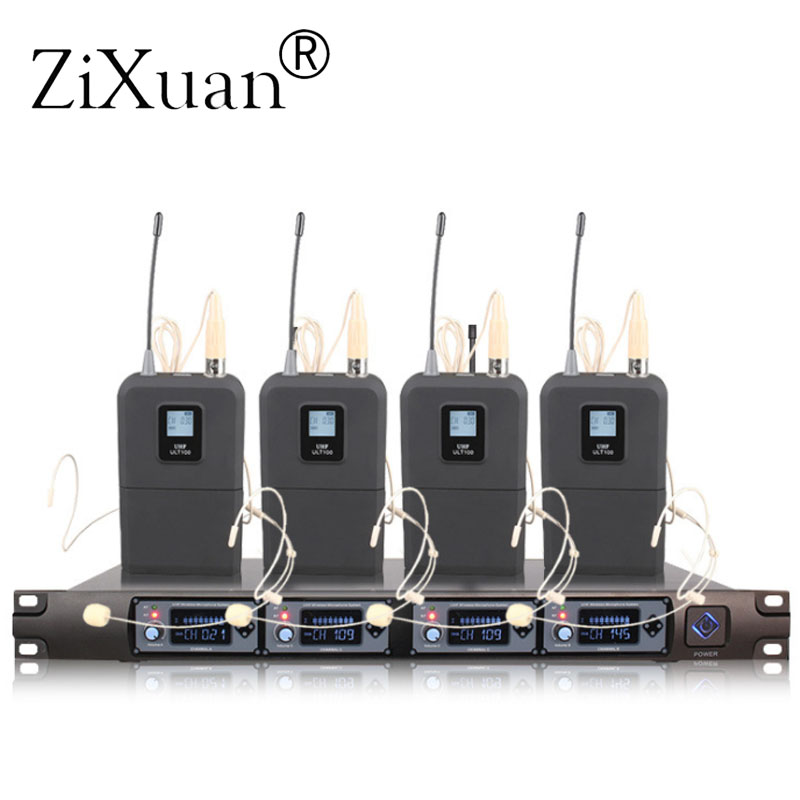 Wireless Microphone System U4000T Professional Microphone 4 Channel UHF Dynamic Professional Microphone