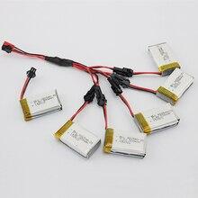 5 pcs Li sur Lipo Batterie et chargeur 7.4 V 500 mAh SM plug pour JJRC H8C DFD F183 Rc Quadcopter Drone Hélicoptère Bateria Lipo