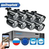 8CH 4MP POE IP caméra CCTV système de Surveillance Kit étanche IP66 avec 8 pièces 48V POE balle Cam NVR système P2P nuage APP XMEye
