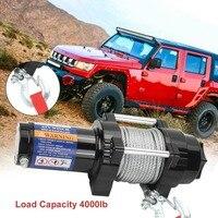 DE Профессиональный 12 В электрическая лебедка нагрузки Ёмкость до 4000lb с удаленным Управление автомобили внедорожных для двигатели Atv подъем
