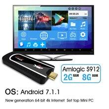 NEW H96 Pro Mini PC Android 7.1 Smart TV dongle Amlogic S912 Octa Core 2G 8G H.265 KOD 4K small Media Player