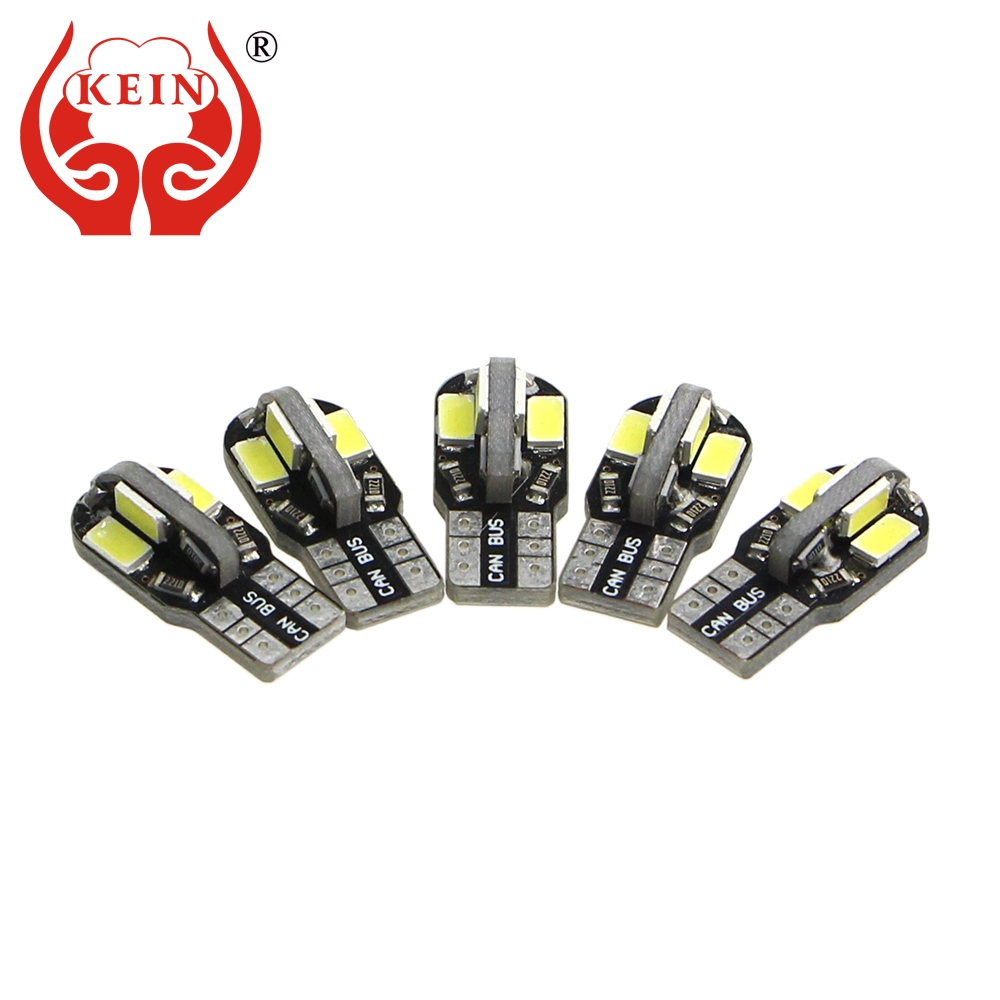 KEIN <font><b>10pcs</b></font> <font><b>t10</b></font> led 8smd 5630 W5W led Bulb auto 194 5630 5730 <font><b>CANBUS</b></font> Side Wedge Parking Interior Lighting Signal Lamp car styling image