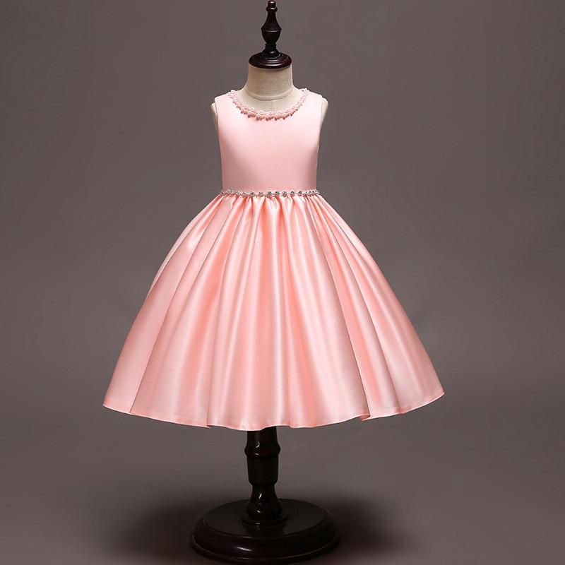 Filles jupe nouvelle robe de princesse robes de reconstitution historique robes de fille de fleur pour les mariages enfants robe de fleur robe de bal sans manches