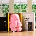 Conejo de peluche lindo powerBank portátil fuente de alimentación móvil, 4000 miliamperios tesoro de carga para el iphone samsung xiao mi powerban
