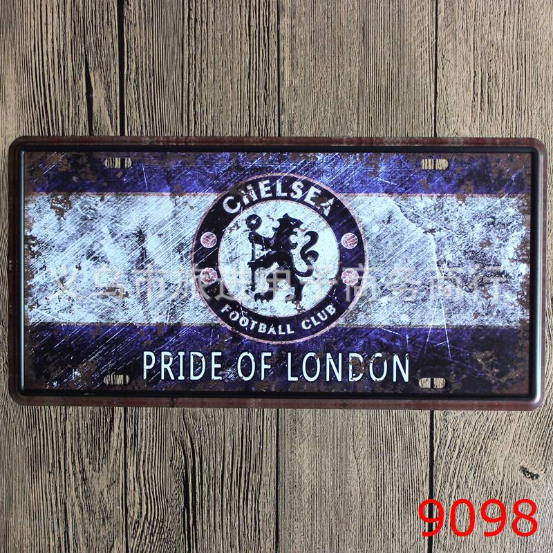 LOSICOE Vintage license plate PRIDE OF LONDON Metal signs home decor Office Restaurant Bar Metal Painting art 15x30 CM