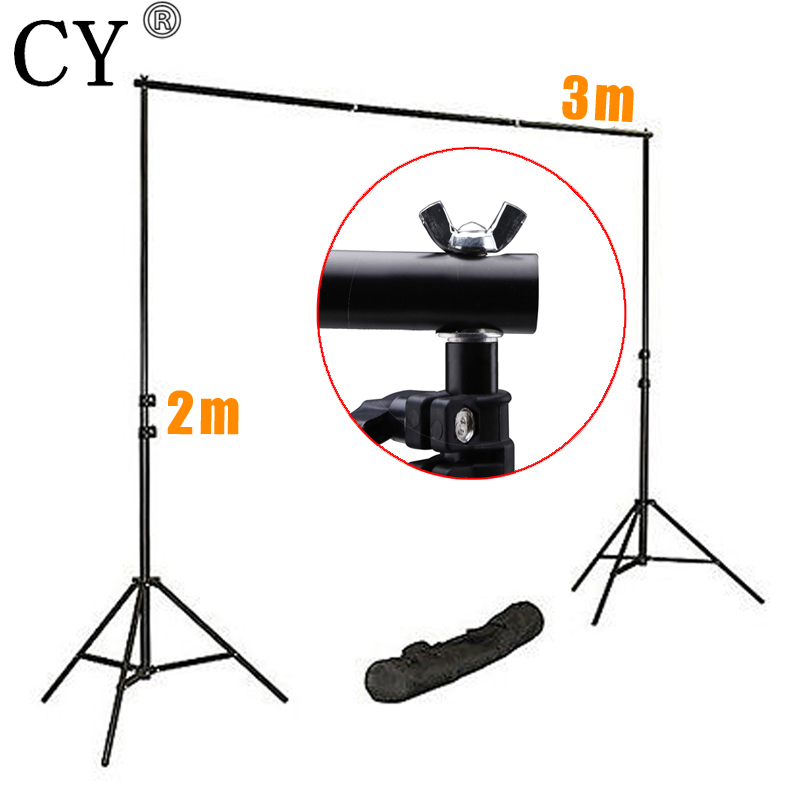 CY Photography Studio Background Support System Kits 200cm Light Stand x2+75cm Cross Bar x4 Fotografia Photo Background S