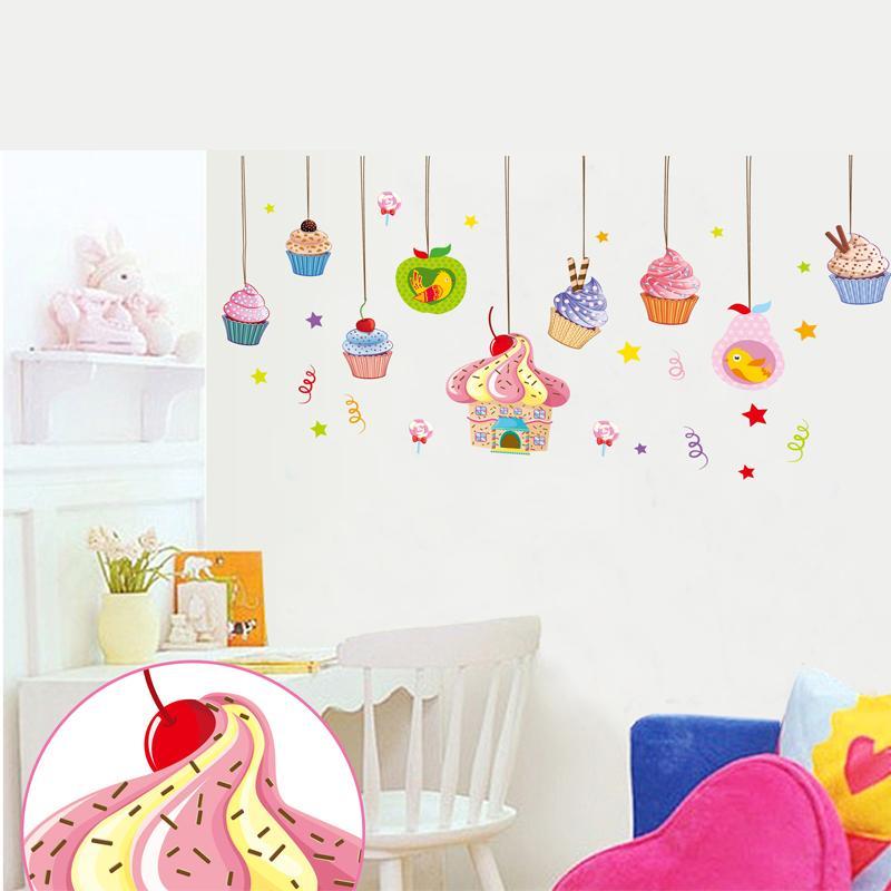 Buy cartoon color ice cream diy vinyl - Tapices para sofas ...
