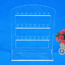 24 Holes Earring Jewelry Show Plastic Display Rack Stand Organizer Holder