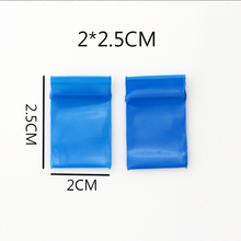 100pcs/lot High Quality 2x2.5cm Blue Color Plastic Bags Clear Ziplock Reclosable Pouches Packing Gifts Bag
