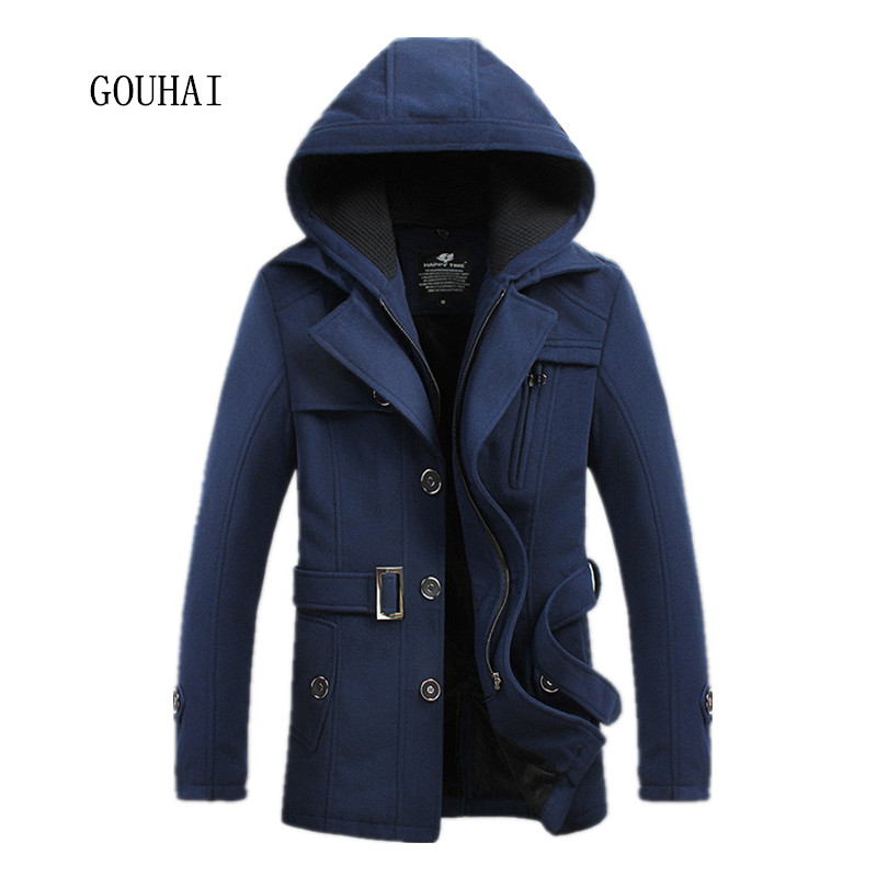 Hooded Mens Pea Coat | Fashion Women's Coat 2017