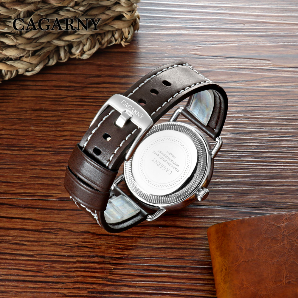 new arrival cagarny luxury brand quartz wrist watch for men watches casual clock man (2)