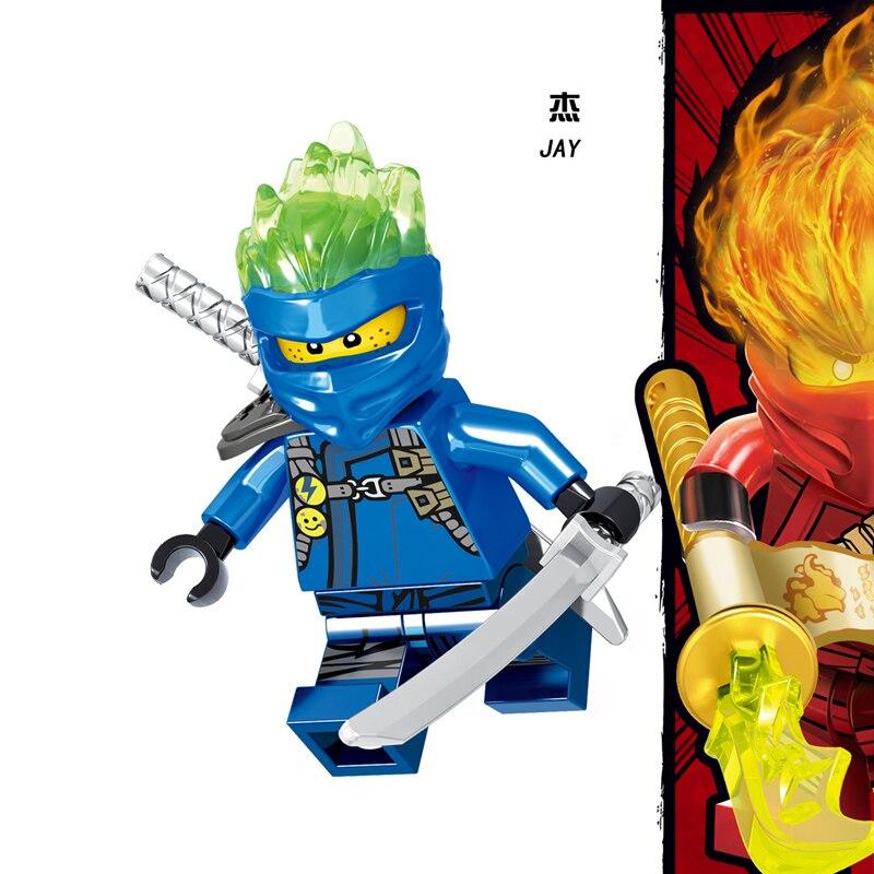 1 шт. ниндзя Кай Джей Коул Зейн Ллойд Нья Мини фигурки Строительные блоки Детская игрушка подарок Совместимость с legoingly ninjagoo для детей - Цвет: RZGA115