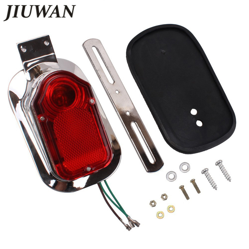 Motorcycle Accessories Turn Signal Rear Tail Brake Stop Lamp License Plate Light Red Taillight For Choppers Cruisers Classic