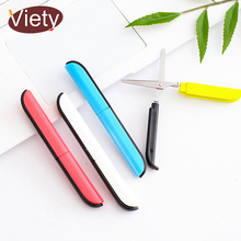 Creative Candy color little artist scissor scrapbooking craft paper scissor with protector for kids student stationery