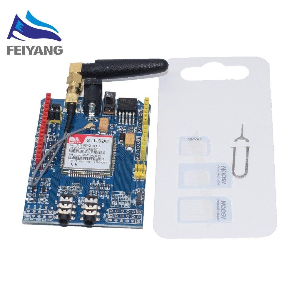 Module quadri-bande de carte de développement de bouclier de SIM900 GPRS/GSM Compatible