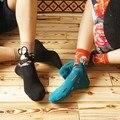 1 Pair Fashion harajuku Mona Lisa Painting Art Unisex Men Women Short Socks Funny Novelty Starry Night Vintage Retro