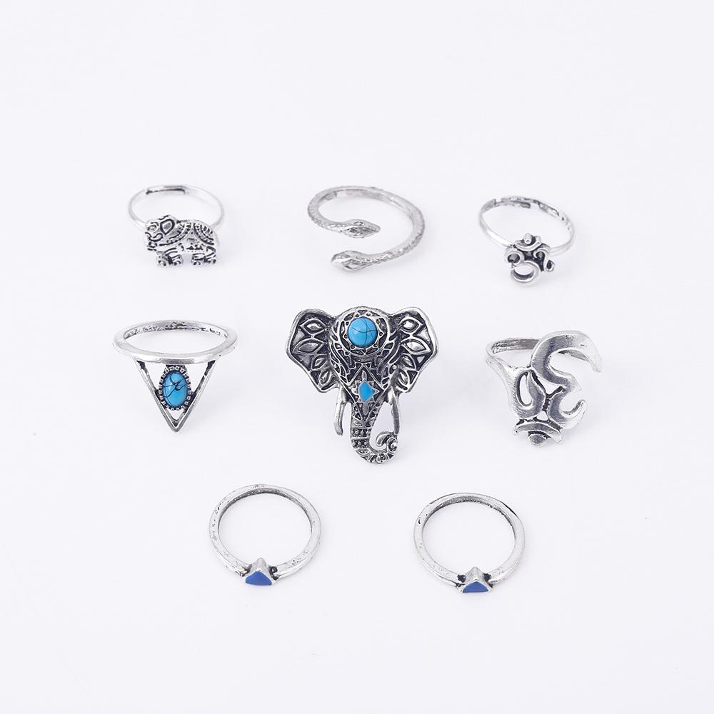 HTB1CTraRVXXXXXWXpXXq6xXFXXXN Fashionable 8-Pieces Boho Retro Spirituality Symbols Stackable Midi Ring Set