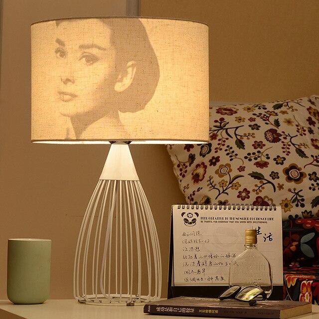 Modern Bedside Bedroom Wooden Table Lamp Light AC 110V