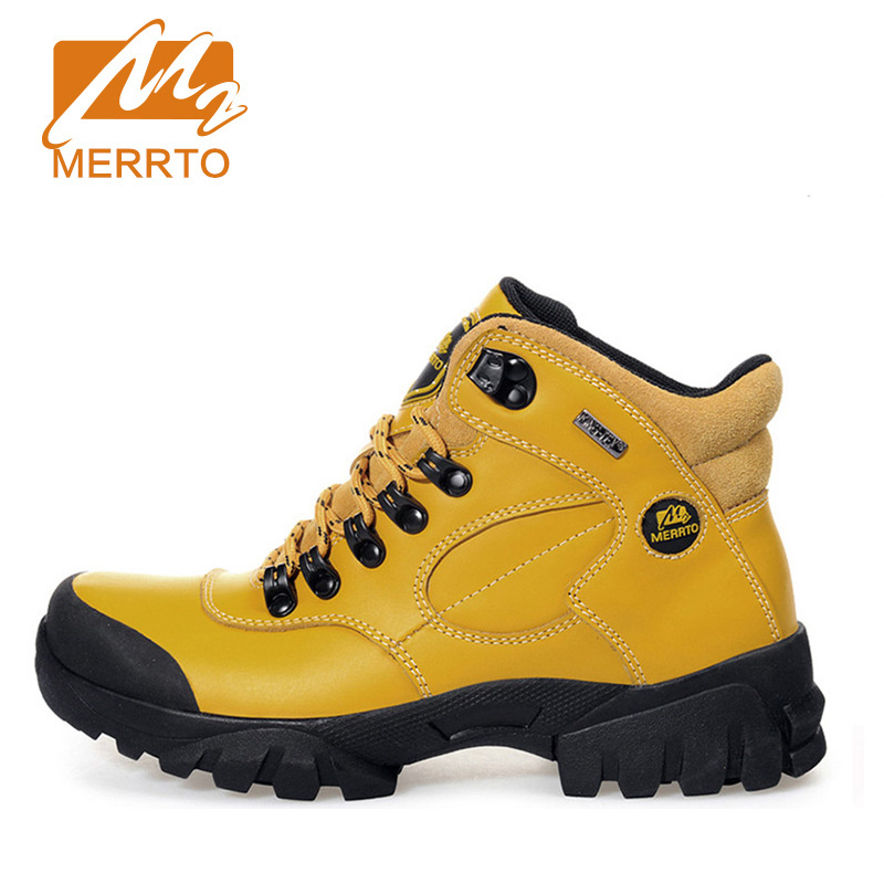 цены 2018 Merrto Women Hiking Boots Waterproof Outdoor Sports Shoes Full-grain leather Plus Velvet For Women Free Shipping 18001