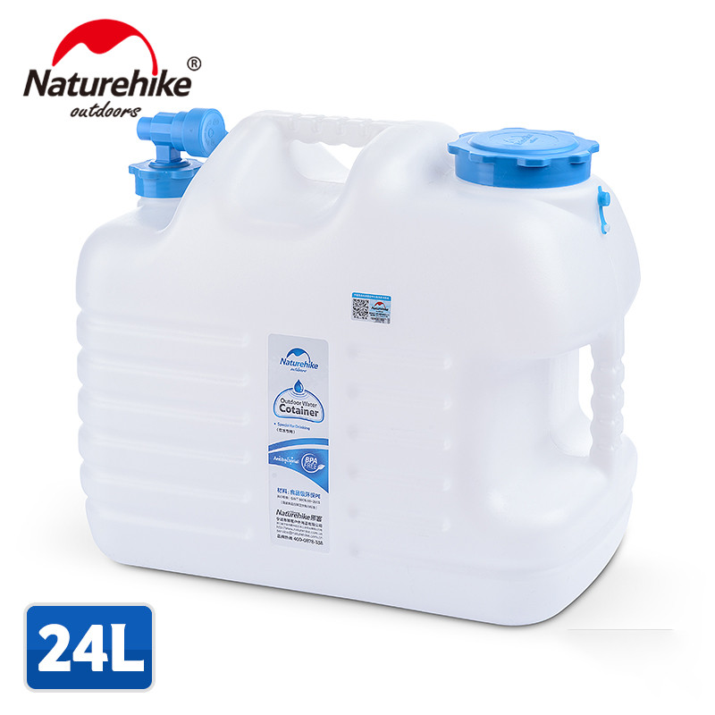 Naturehike New Designed 12L 24L Water Barrel Food Grade PE Outdoor Water Tank Outdoor Hiking Camping Accessories Water Container