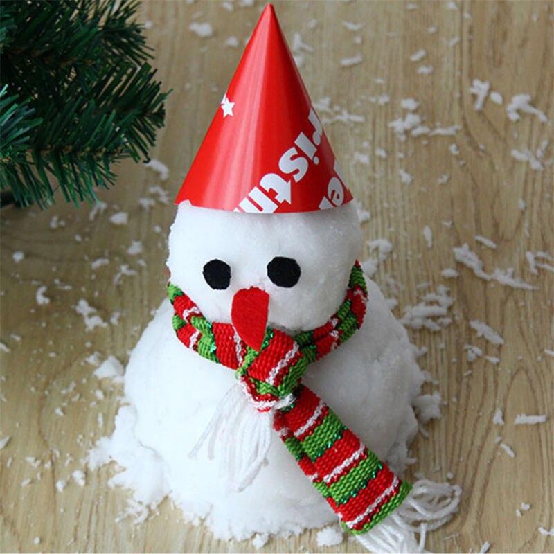 Flocons de neige artificiels fausse neige magique bricolage résine absorbante accessoires amusant