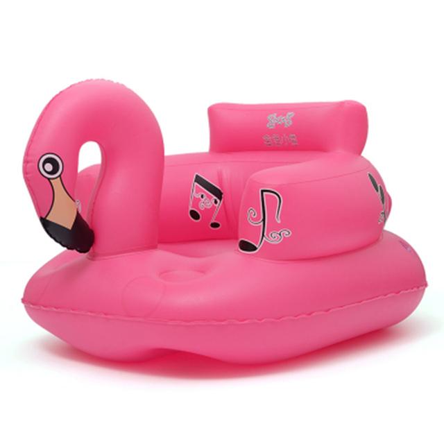 Banho de assento da Cadeira De Jantar Flamingo Sofá Inflável carrinho de bebê cadeira de assento Play Game Mat sofá Crianças Aprendem banquinho portátil