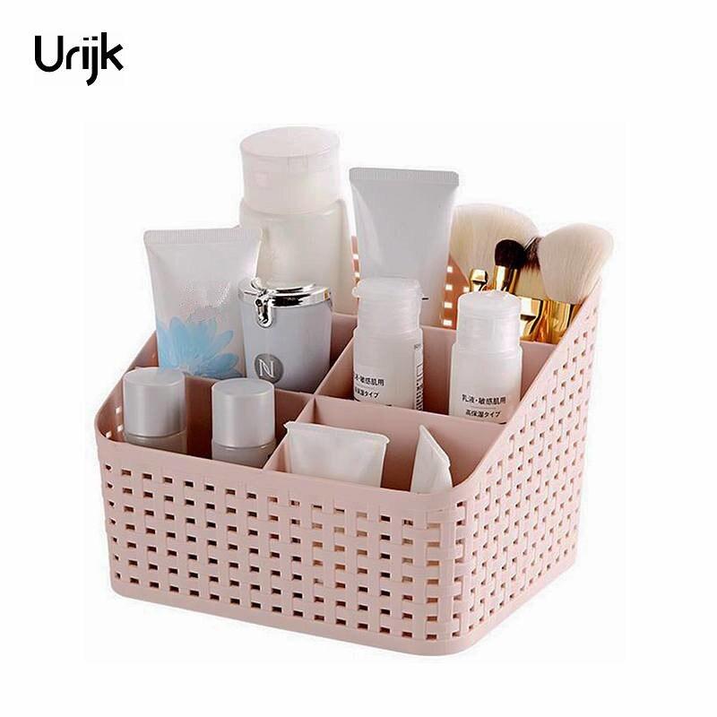 Urijk Boîte en plastique De Stockage de Maquillage Organisateur Cosmétiques Bureau Accessoires de bureau Organisateur De Stockage vernis à ongles Contenant la boîte de cadeau