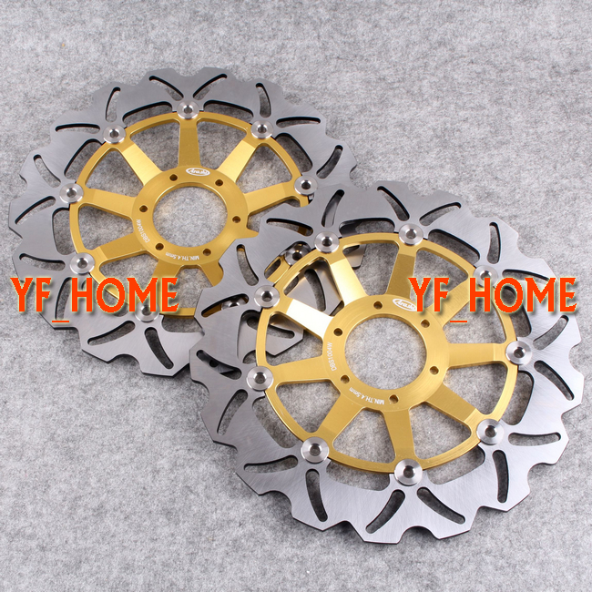 Front Brake Disc Rotors For Honda XL1000V Varadero ABS 2004 2005 2006 2007 2008 2009 2010 2011 & VFR 800 VTEC ABS 2002 - 2013 1 pcs motorcycle rear brake rotor disc steel braking disk for honda cbr1100xx 1997 2004 xlv1000 varadero abs 2004 2007 2010 2011