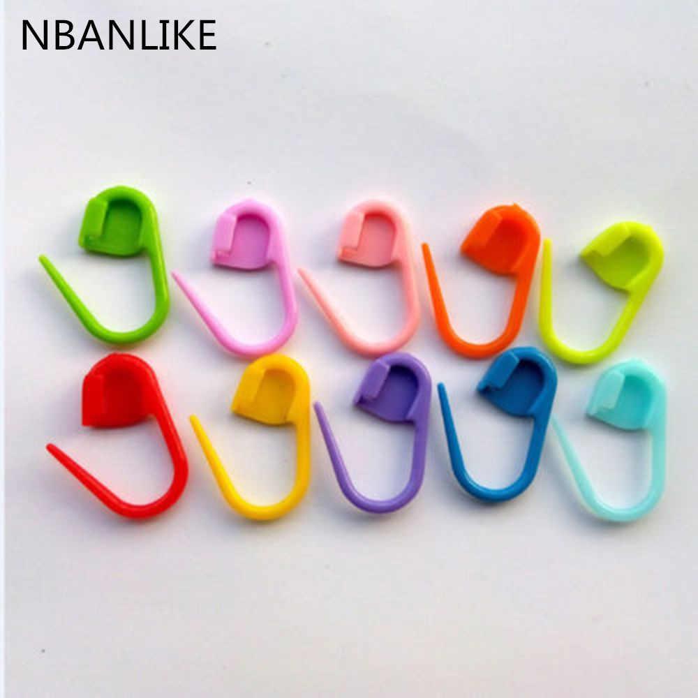 Новинка 2018 100 шт цветные вязаные пластиковые для вязания крючком рукоделия